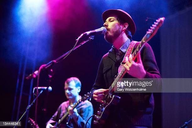 Andy Cabic of Vetiver performs on stage at O2 Academy on December 1 2011 in Leeds United Kingdom