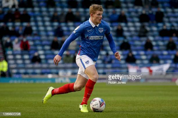 Andy Cannon of Portsmouth FC during the Sky Bet League One match between Portsmouth and Peterborough United at Fratton Park on December 05, 2020 in...