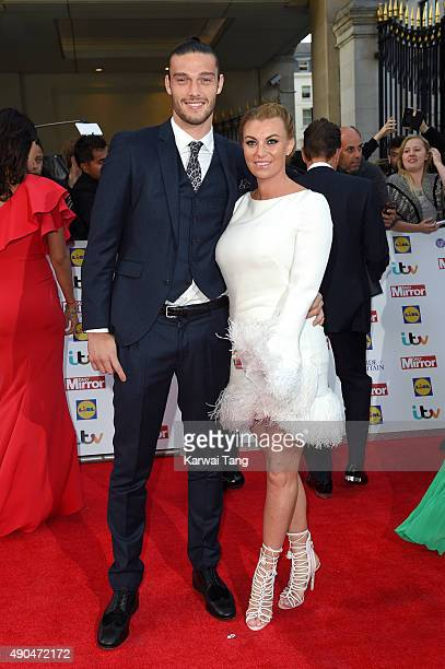 Andy Carroll and Billi Mucklow attend the Pride of Britain awards at The Grosvenor House Hotel on September 28 2015 in London England