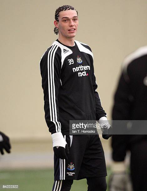 Andy Carroll during a Newcastle United team training session on January 09 2009 in NewcastleuponTyne England