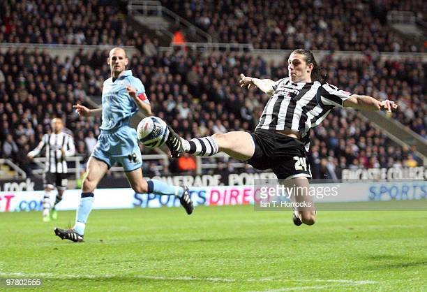 Andy Carroll of Newcastle United during the Coca Cola Championship match between Newcastle United and Scunthorpe United at St James' Park on March 17...