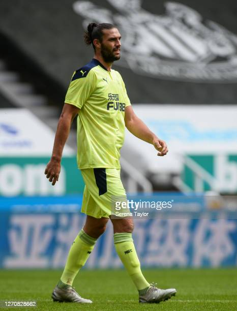 Andy Carroll of Newcastle United FC during the Pre Season Friendly between Newcastle United and Stoke City at St James' Park on September 05 2020 in...
