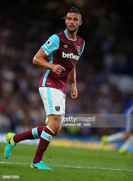 Andy Carroll of West Ham during the Premier League match between Chelsea and West Ham United at Stamford Bridge on August 15 2016 in London England