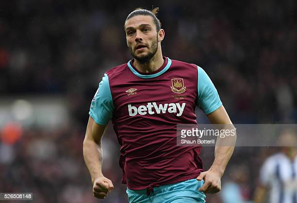 Andy Carroll of West Ham United in action during the Barclays Premier League match between West Bromwich Albion and West Ham United at The Hawthorns...