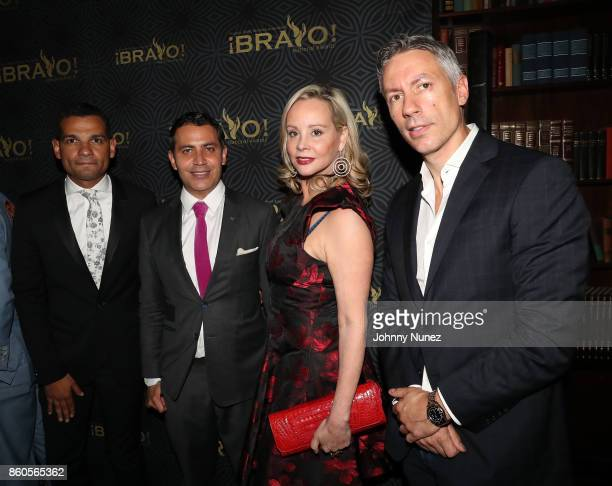 Andy Checo Gabriel RiveraBarraza Yaz Hernández and Barry Mullineaux Attend The 2017 HPRA Bravo Awards at Lotte New York Palace on October 11 2017 in...