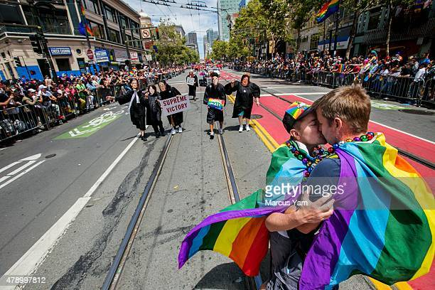 SAN FRANCISCO CALIF SUNDAY JUNE 28 2015 Andy Chen and Dave McCrory who have been together for the past five years can now contemplate marriage after...