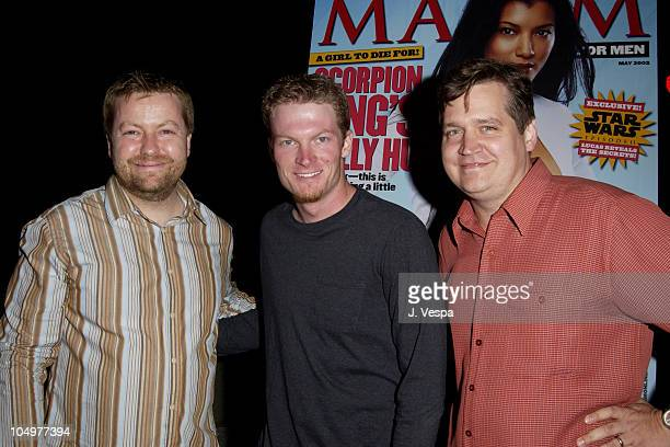 Andy Clerkson General Manager of Maxim Dale Earnhardt Jr and Keith Blanchard EditorinChief of Maxim