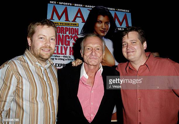Andy Clerkson General Manager of Maxim Hugh Hefner and Keith Blanchard EditorinChief of Maxim