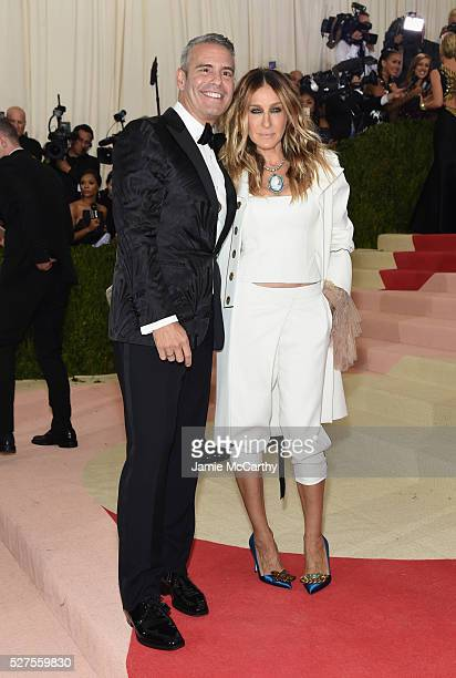 """Andy Cohen and and Sarah Jessica Parker attend the """"Manus x Machina: Fashion In An Age Of Technology"""" Costume Institute Gala at Metropolitan Museum..."""