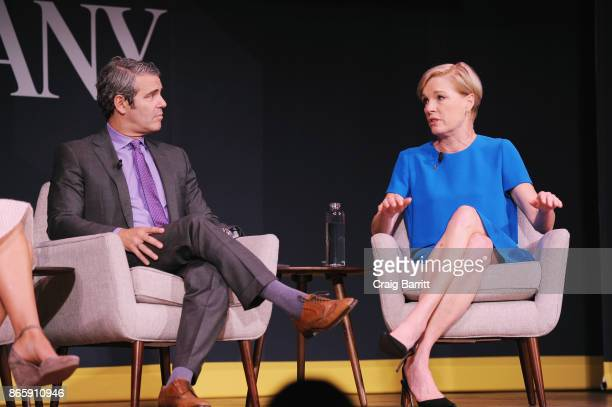 Andy Cohen and Cecile Richard speak onstage at Andy Cohen and Cecile Richards on Activism Pop Culture and Why Authenticity Is The Only Way Forward...