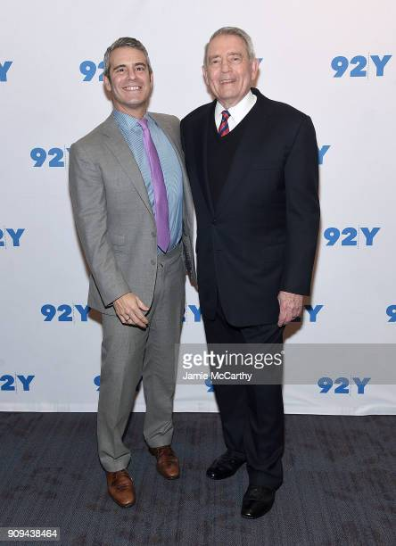 Andy Cohen and Dan Rather attend the 92nd Street Y Presents Dan Rather Discussing His New Book 'What Unites Us' at 92nd Street Y on January 23 2018...