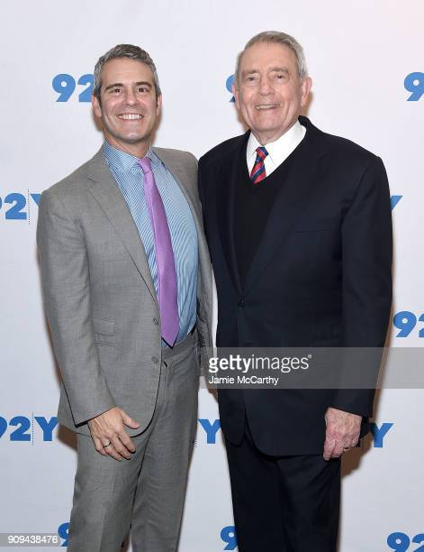 Andy Cohen and Dan Rather attend the 92nd Street Y Presents Dan Rather Discussing His New Book What Unites Us at 92nd Street Y on January 23 2018 in...