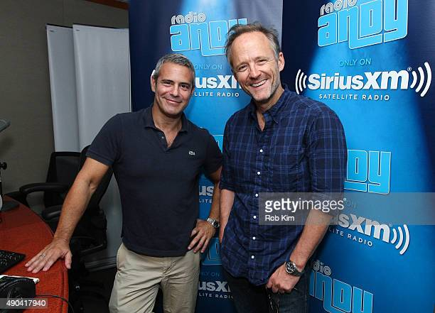 """Andy Cohen and John Benjamin Hickey appear on """"My Favorite Song with John Benjamin Hickey"""" on Andy Cohen's exclusive SiriusXM Channel, Radio Andy at..."""