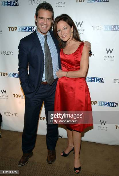 Andy Cohen and Margaret Russell during Bravo's Top Design Finale Party Hosted by Todd Oldham at W HOTEL in New York City New York United States