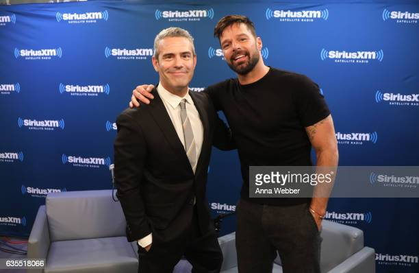 Andy Cohen and Ricky Martin attend SiriusXM's 'Town Hall' With Ricky Martin 'Town Hall' To Air On Andy Cohen's Exclusive SiriusXM Channel Radio Andy...