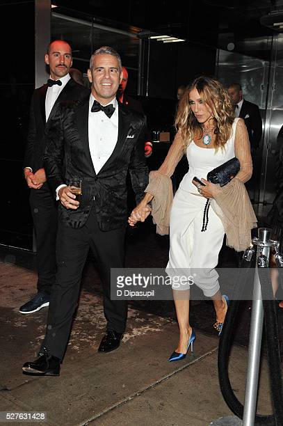 Andy Cohen and Sarah Jessica Parker are seen departing from The Standard High Line on May 2 2016 in New York City