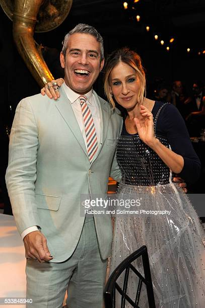 Andy Cohen and Sarah Jessica Parker attend the 2016 Parsons Benefit at Chelsea Piers on May 23 2016 in New York City