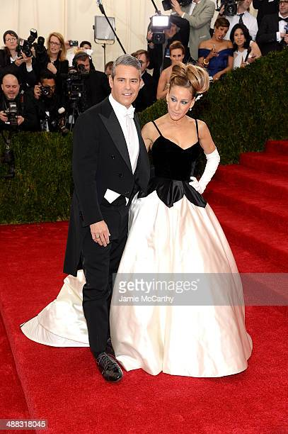 Andy Cohen and Sarah Jessica Parker attend the 'Charles James Beyond Fashion' Costume Institute Gala at the Metropolitan Museum of Art on May 5 2014...