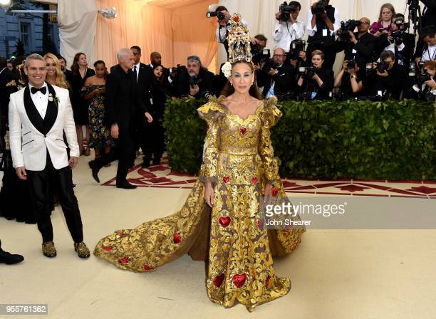 Andy Cohen and Sarah Jessica Parker attend the Heavenly Bodies Fashion The Catholic Imagination Costume Institute Gala at The Metropolitan Museum of...