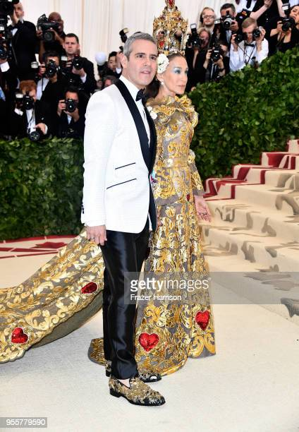 Andy Cohen and Sarah Jessica Parker attends the Heavenly Bodies Fashion The Catholic Imagination Costume Institute Gala at The Metropolitan Museum of...