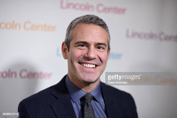 Andy Cohen arrives at Lincoln Center's American Songbook Gala Honors Lorne Michaels at Lincoln Center for the Performing Arts on February 11 2016 in...