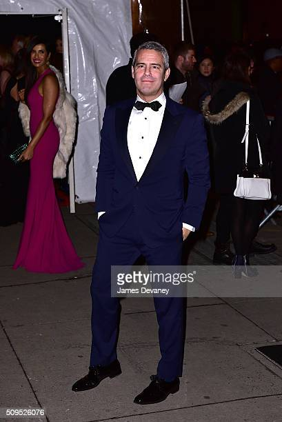 Andy Cohen arrives to 2016 amfAR New York Gala at Cipriani Wall Street on February 10 2016 in New York City