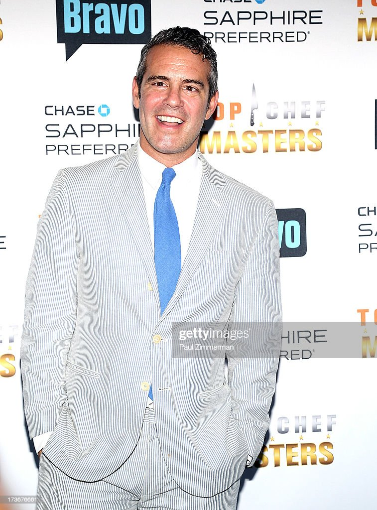 Andy Cohen attends Bravo's 'Top Chef Masters' Season 5 Premiere Celebration at 82 Mercer on July 16, 2013 in New York City.