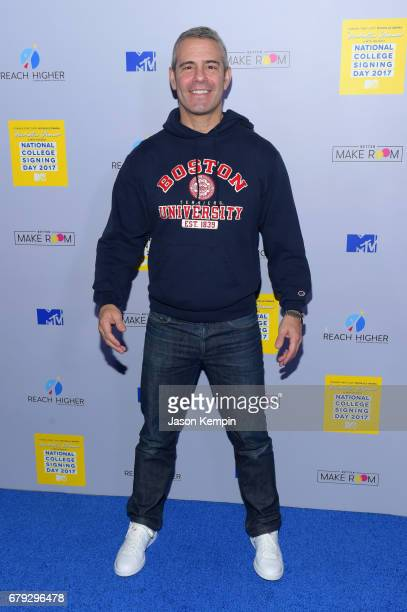 Andy Cohen attends the MTV's 2017 College Signing Day With Michelle Obama at The Public Theater on May 5, 2017 in New York City.