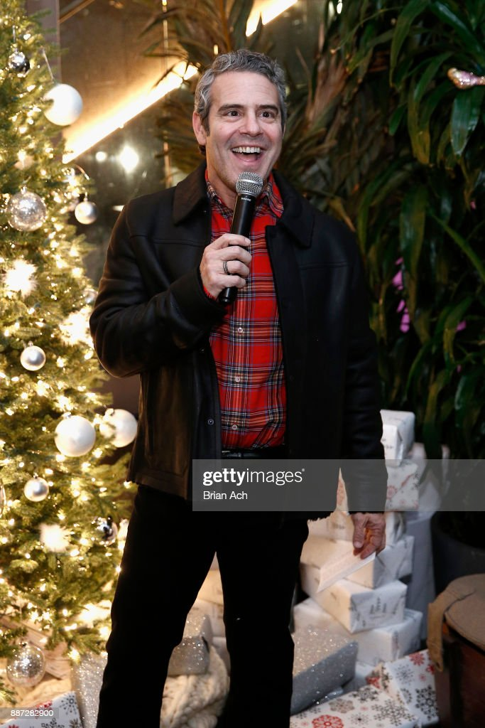 Andy Cohen makes a toast at the UGG x