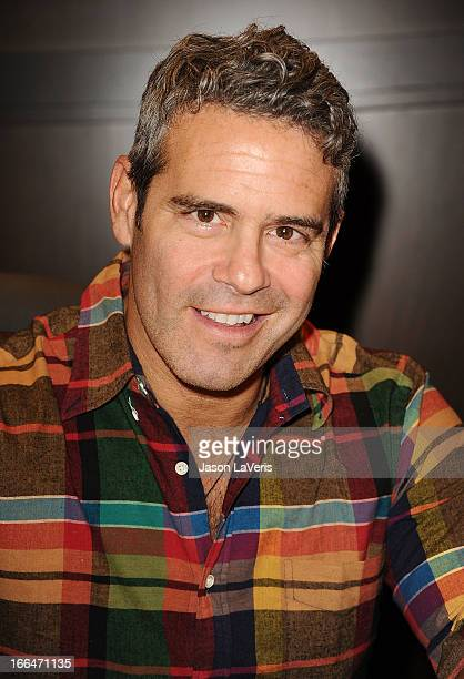Andy Cohen signs copies of his book Most Talkative Stories From The Front Lines Of Pop Culture at Barnes Noble bookstore at The Grove on April 12...