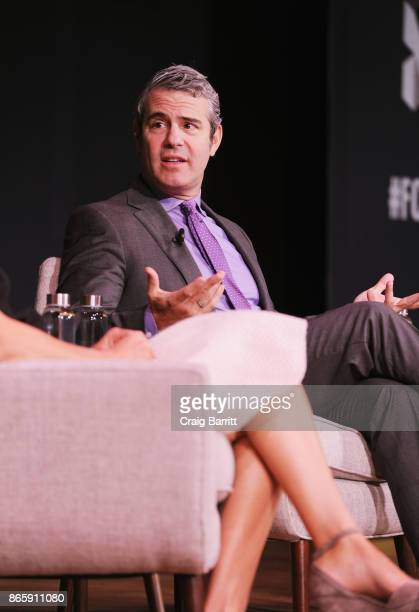 Andy Cohen speaks onstage at Andy Cohen and Cecile Richards on Activism Pop Culture and Why Authenticity Is The Only Way Forward during the Fast...