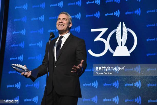 Andy Cohen speaks onstage during the 30th Annual GLAAD Media Awards New York at New York Hilton Midtown on May 04 2019 in New York City