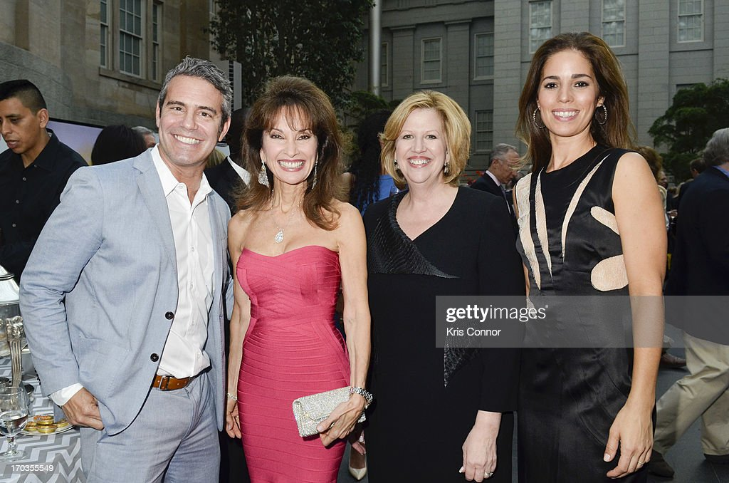 Andy Cohen, Susan Lucci, Abbe Raven and Anna Ortiz pose for a photo during a NCTA reception hosted by A+E Networks at Smithsonian American Art Museum & National Portrait Gallery on June 11, 2013 in Washington, DC.