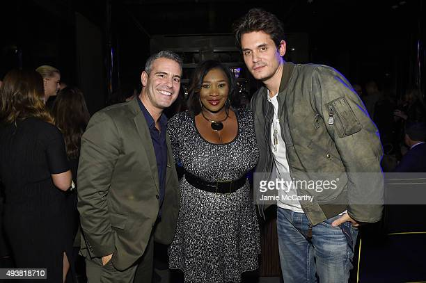 Andy Cohen TV personality Bevy Smith and musician John Mayer attend Andy Cohen SiriusXM celebrate the launch of Cohen's New Exclusive SiriusXM...