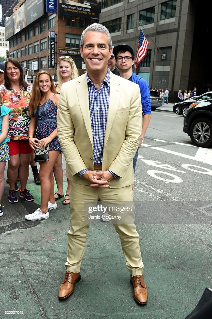 Andy Cohen visits 'Extra' on July 27, 2017 in New York City.