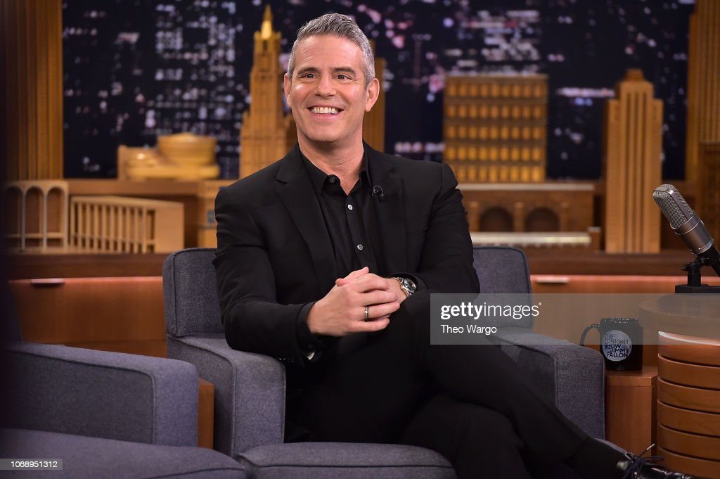 """John Legend, Anderson Cooper & Andy Cohen Visit """"The Tonight Show Starring Jimmy Fallon"""" : News Photo"""