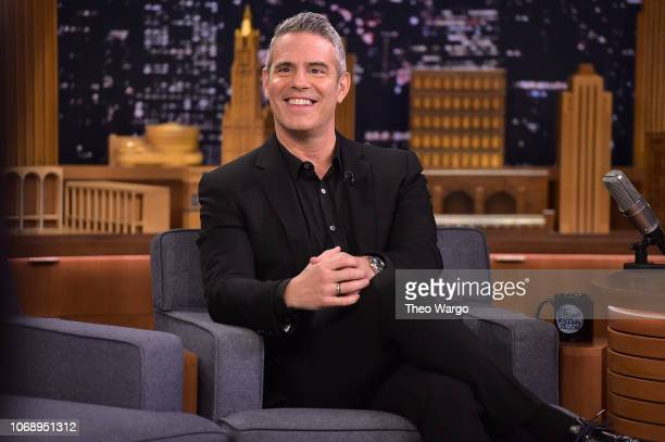 Andy Cohen visits The Tonight Show Starring Jimmy Fallon on December 5 2018 in New York City