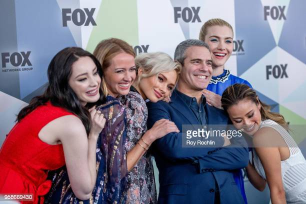 Andy Cohen with Emma Dumont Amy Acker Natalie Alyn Lind Skyler Samuels and Jamie Chung attends the 2018 Fox Network Upfront at Wollman Rink Central...