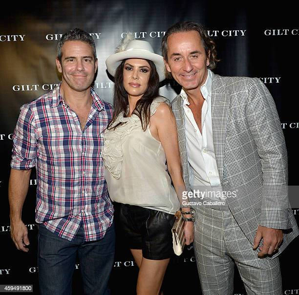 Andy CohenAdriana De Moura and Frederic Marq attends Gilt City Celebrates The Launch Of Andy Cohen's New Book The Andy Cohen Diaries on November 23...