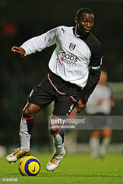Andy Cole of Fulham in action during the Barclays Premiership match between Norwich City and Fulham at Carrow Road on December 4 2004 in Norwich...