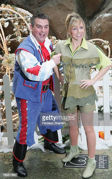 Andy Colins and Claire Buckfield attend the First Family Entertainment Pantomine Season Launch at the O2 November 21 2007 in London England