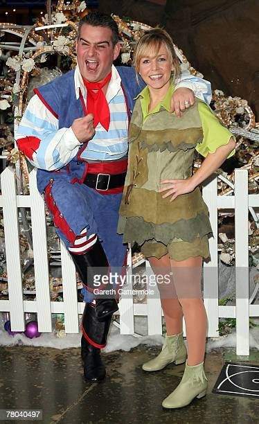 Andy Collins and Claire Buckfield pose at the First Family Entertainment Pantomime Season Panto Line Up Launch at The O2 Centre on Finchley Road on...
