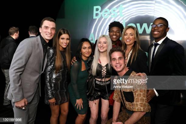 Andy Cosferent Morgan Simianer Gabi Butler Lexi Brumback Jerry Harris Ben Platt Monica Aldama and TT Barker attend Spotify Hosts Best New Artist...