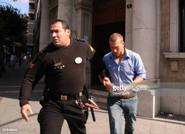 Andy Cowles the partner of the late Stephen Gately leaves the courthouse following a post mortem hearing on October 13 2009 in Palma de Mallorca...
