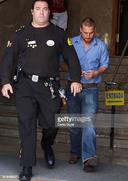 Andy Cowles the partner of the late Stephen Gately leaves the courthouse on October 13 2009 in Palma de Mallorca Spain after attending the inquest...