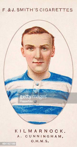 Andy Cunningham of Kilmarnock FC featured on a vintage cigarette card published in London circa 1915