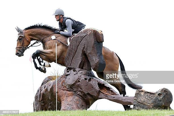 Andy Daines riding Spring Panorama in the CCI 2 star class during the Puhinui International Three Day Event on December 6 2014 in Auckland New Zealand