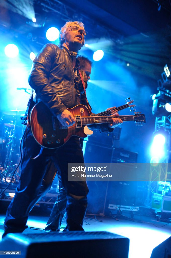 Andy Dawson of British heavy metal band Savage performing