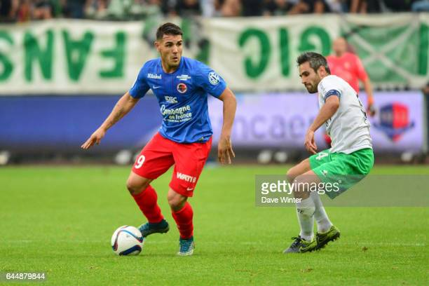 Andy DELORT / Loic PERRIN Caen / Saint Etienne Ligue 1 9e journee Photo Dave Winter / Icon Sport