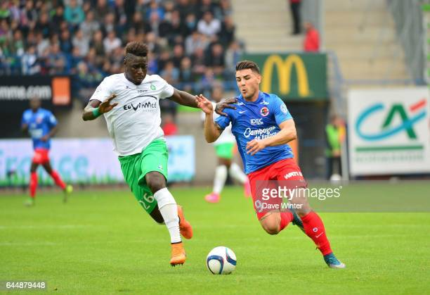 Andy DELORT / Moustapha SALL Caen / St Etienne 9e journee de Ligue 1 Photo Dave Winter / Icon Sport